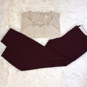 Flat Front J. Crew Ankle Pant
